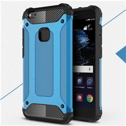 King Kong Armor Premium Shockproof Dual Layer Rugged Hard Cover for Huawei P10 Lite P10Lite - Sky Blue