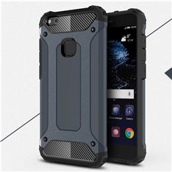 King Kong Armor Premium Shockproof Dual Layer Rugged Hard Cover for Huawei P10 Lite P10Lite - Navy