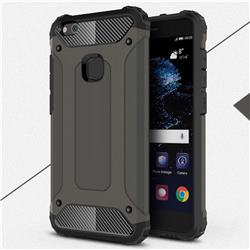 King Kong Armor Premium Shockproof Dual Layer Rugged Hard Cover for Huawei P10 Lite P10Lite - Bronze