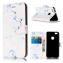 Soft White Marble PU Leather Wallet Case for Huawei P10 Lite P10lite
