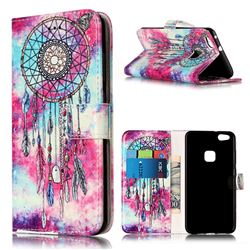 Butterfly Chimes PU Leather Wallet Case for Huawei P10 Lite P10lite
