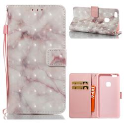 Beige Marble 3D Painted Leather Wallet Case for Huawei P10 Lite P10Lite