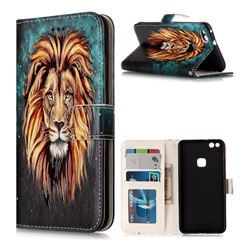 Ice Lion 3D Relief Oil PU Leather Wallet Case for Huawei P10 Lite P10Lite