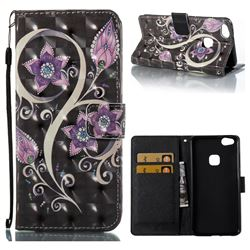 Peacock Flower 3D Painted Leather Wallet Case for Huawei P10 Lite P10Lite