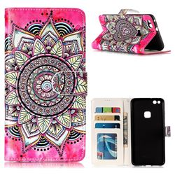 Rose Mandala 3D Relief Oil PU Leather Wallet Case for Huawei P10 Lite P10Lite