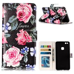Peony 3D Relief Oil PU Leather Wallet Case for Huawei P10 Lite P10Lite