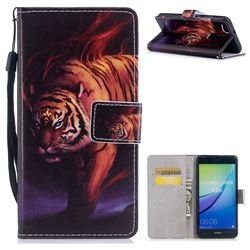 Mighty Tiger PU Leather Wallet Case for Huawei P10 Lite P10Lite