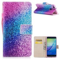 Rainbow Sand PU Leather Wallet Case for Huawei P10 Lite P10Lite