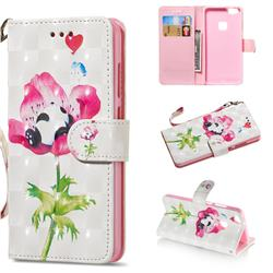 Flower Panda 3D Painted Leather Wallet Phone Case for Huawei P10 Lite P10Lite
