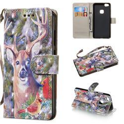 Elk Deer 3D Painted Leather Wallet Phone Case for Huawei P10 Lite P10Lite