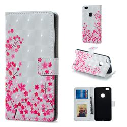 Cherry Blossom 3D Painted Leather Phone Wallet Case for Huawei P10 Lite P10Lite