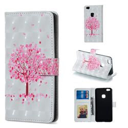 Sakura Flower Tree 3D Painted Leather Phone Wallet Case for Huawei P10 Lite P10Lite