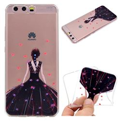 Wedding Girl Super Clear Soft TPU Back Cover for Huawei P10 Plus