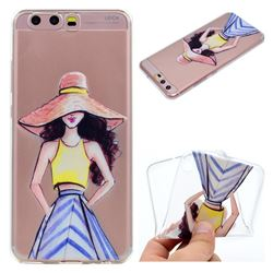 Summer Girl Super Clear Soft TPU Back Cover for Huawei P10 Plus