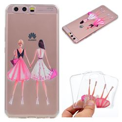 Maiden Honey Super Clear Soft TPU Back Cover for Huawei P10 Plus