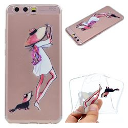 Pet Girl Super Clear Soft TPU Back Cover for Huawei P10 Plus
