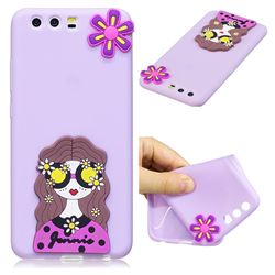 Violet Girl Soft 3D Silicone Case for Huawei P10 Plus