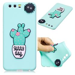 Cactus Flower Soft 3D Silicone Case for Huawei P10 Plus