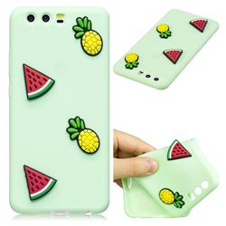Watermelon Pineapple Soft 3D Silicone Case for Huawei P10 Plus