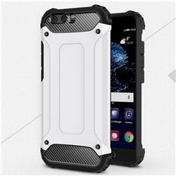 King Kong Armor Premium Shockproof Dual Layer Rugged Hard Cover for Huawei P10 Plus - White