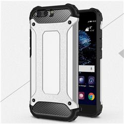 King Kong Armor Premium Shockproof Dual Layer Rugged Hard Cover for Huawei P10 Plus - Technology Silver