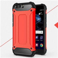 King Kong Armor Premium Shockproof Dual Layer Rugged Hard Cover for Huawei P10 Plus - Big Red