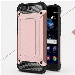 King Kong Armor Premium Shockproof Dual Layer Rugged Hard Cover for Huawei P10 Plus - Rose Gold
