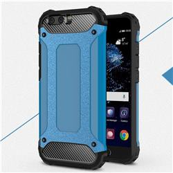 King Kong Armor Premium Shockproof Dual Layer Rugged Hard Cover for Huawei P10 Plus - Sky Blue