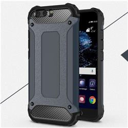 King Kong Armor Premium Shockproof Dual Layer Rugged Hard Cover for Huawei P10 Plus - Navy