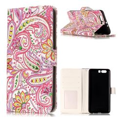 Pepper Flowers 3D Relief Oil PU Leather Wallet Case for Huawei P10 Plus