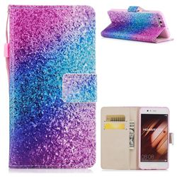 Rainbow Sand PU Leather Wallet Case for Huawei P10 Plus