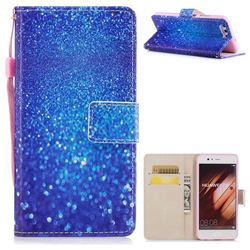 Blue Powder PU Leather Wallet Case for Huawei P10 Plus