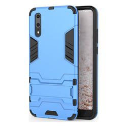 Armor Premium Tactical Grip Kickstand Shockproof Dual Layer Rugged Hard Cover for Huawei P20 - Light Blue