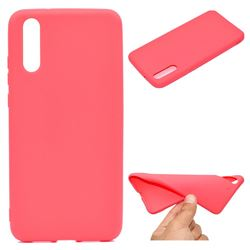 Candy Soft TPU Back Cover for Huawei P20 - Red
