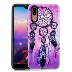 Starry Wind Chimes Pattern 2 in 1 PC + TPU Glossy Embossed Back Cover for Huawei P20
