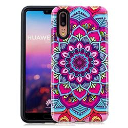Datura Flowers Pattern 2 in 1 PC + TPU Glossy Embossed Back Cover for Huawei P20