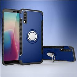 Armor Anti Drop Carbon PC + Silicon Invisible Ring Holder Phone Case for Huawei P20 - Sapphire