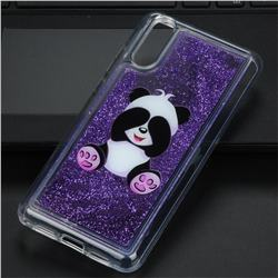 Naughty Panda Glassy Glitter Quicksand Dynamic Liquid Soft Phone Case for Huawei P20