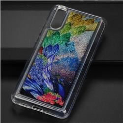 Phoenix Glassy Glitter Quicksand Dynamic Liquid Soft Phone Case for Huawei P20