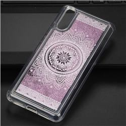 Mandala Glassy Glitter Quicksand Dynamic Liquid Soft Phone Case for Huawei P20