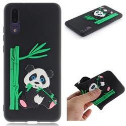 Panda Eating Bamboo Soft 3D Silicone Case for Huawei P20 - Black