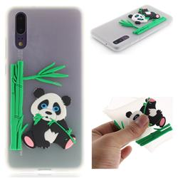 Panda Eating Bamboo Soft 3D Silicone Case for Huawei P20 - Translucent