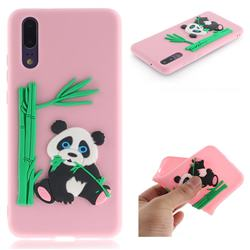 Panda Eating Bamboo Soft 3D Silicone Case for Huawei P20 - Pink