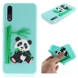 Panda Eating Bamboo Soft 3D Silicone Case for Huawei P20 - Green