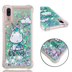 Tiny Unicorn Dynamic Liquid Glitter Sand Quicksand Star TPU Case for Huawei P20