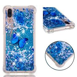 Flower Butterfly Dynamic Liquid Glitter Sand Quicksand Star TPU Case for Huawei P20