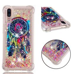 Seal Wind Chimes Dynamic Liquid Glitter Sand Quicksand Star TPU Case for Huawei P20
