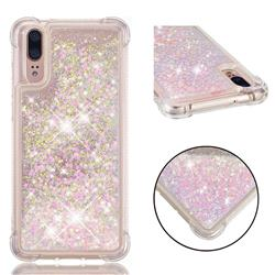Dynamic Liquid Glitter Sand Quicksand TPU Case for Huawei P20 - Silver Powder Star
