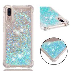 Dynamic Liquid Glitter Sand Quicksand TPU Case for Huawei P20 - Silver Blue Star