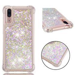Dynamic Liquid Glitter Sand Quicksand Star TPU Case for Huawei P20 - Pink